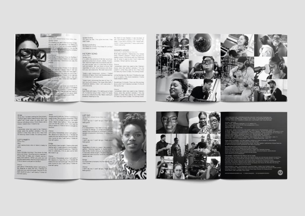 Artwork Logo design booklet pages Typedesign T-shirt corporate design Art Direktion Gestaltung CD Vinyl LP Kennedy Administration