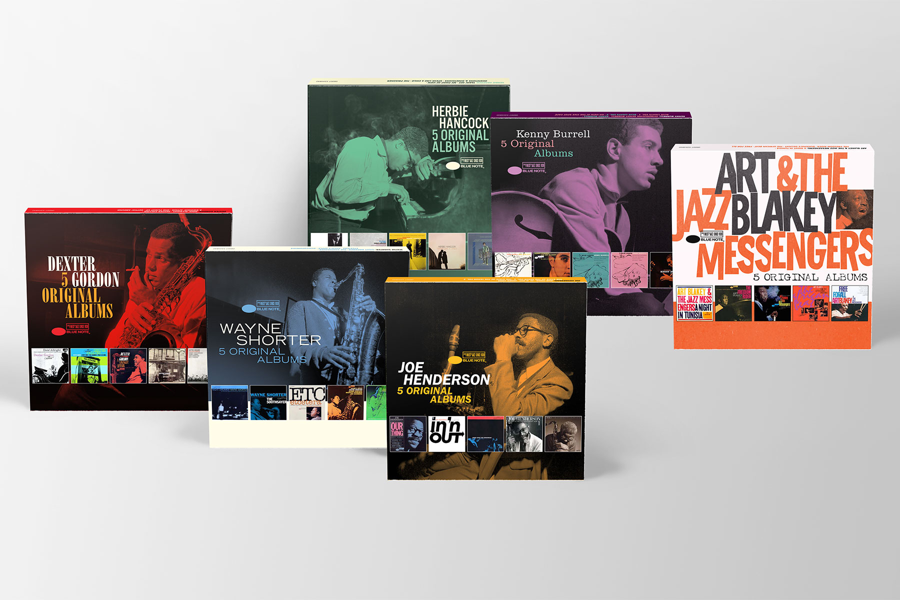 Art Direktion Artwork Cover Design Blue Note 5 Original Albums Box Sets Fotos: Francis Wolff